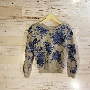 Almost Famous floral crew-neck sweatshirt